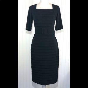 London Times black bandage midi dress 6